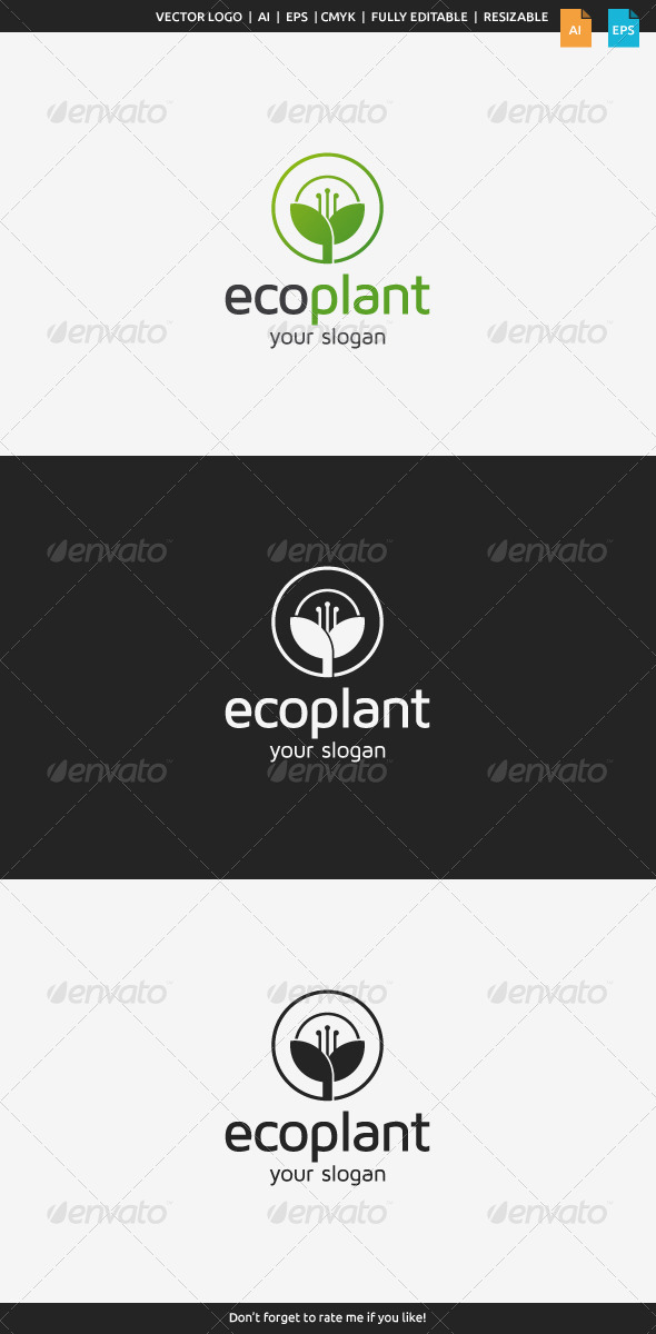 GraphicRiver Eco Plant Logo 8498202