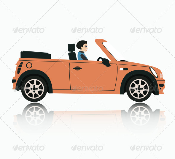 GraphicRiver Woman Driving 8498265