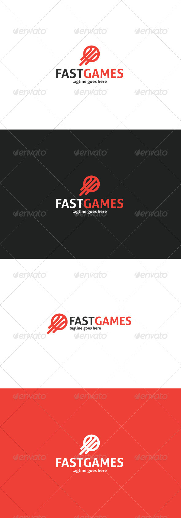 GraphicRiver Fast Games Logo 8498293