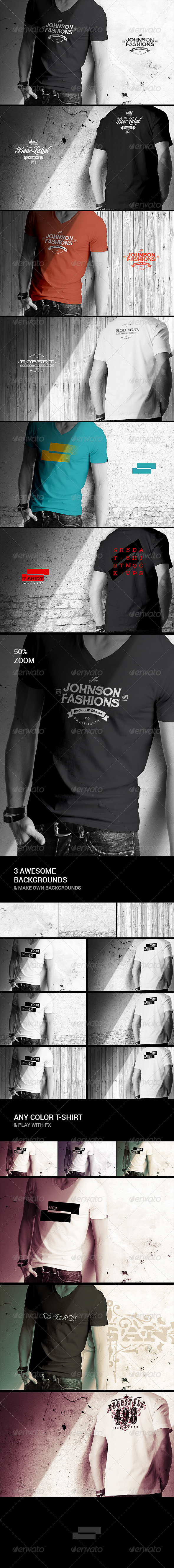 GraphicRiver Mens T-shirt Mock-up 8498447