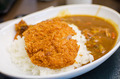 Curry rice with deep fried pork , Japanese food - PhotoDune Item for Sale
