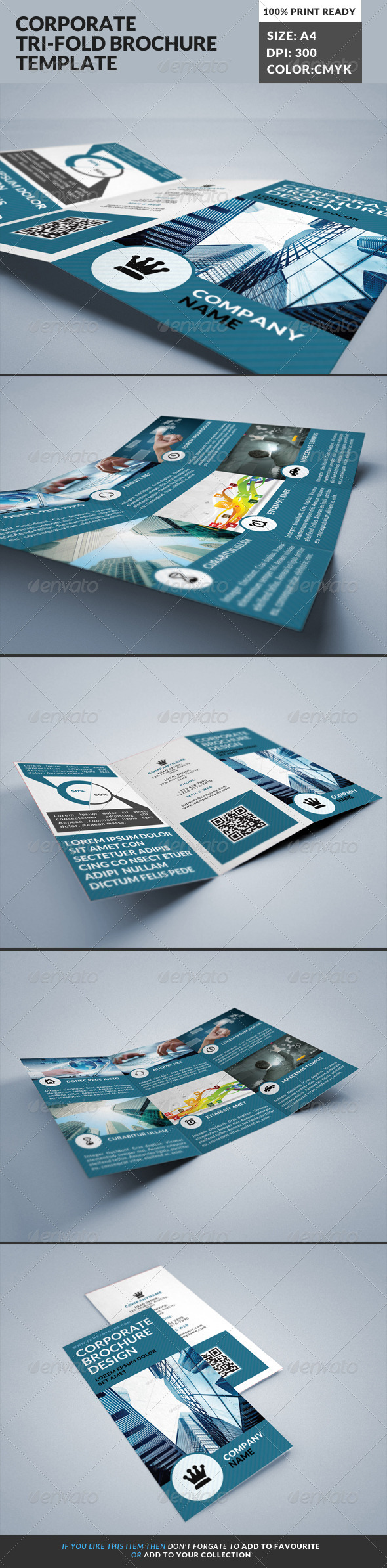 GraphicRiver Corporate Tri-Fold Brochures Template 18 8498539