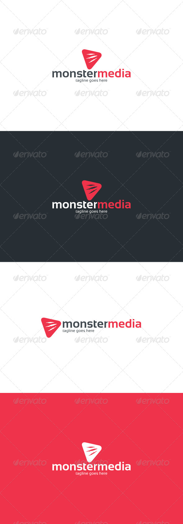GraphicRiver Monster Media Logo 8498645