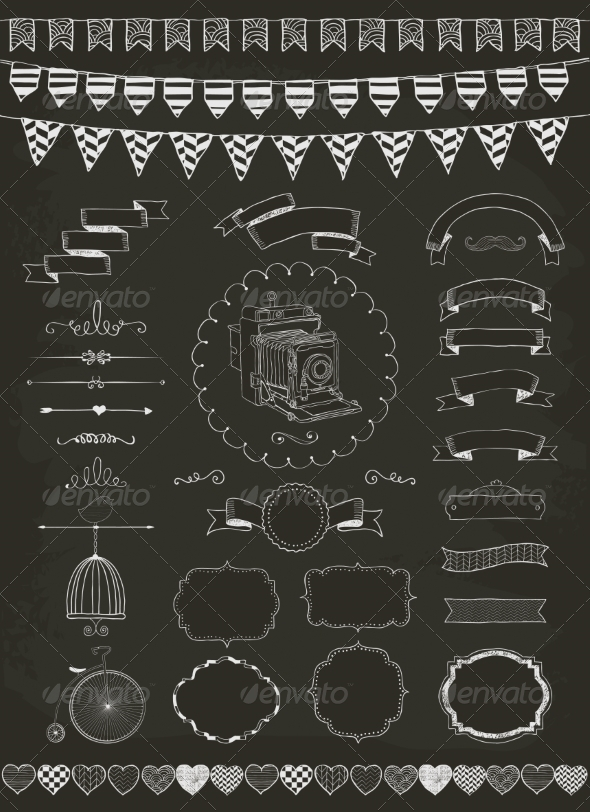 GraphicRiver Vector Collection of Banners Ribbons and Frames 8498661