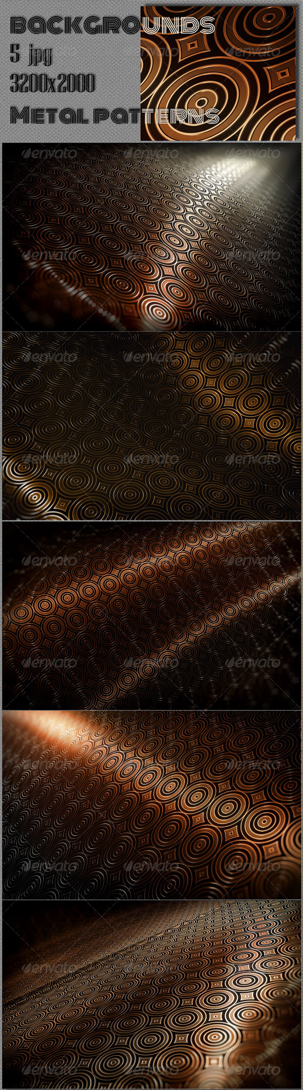 GraphicRiver Abstract Copper Patterns 8498667