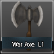 War Axe low poly L1