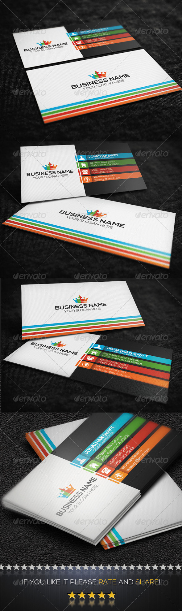 GraphicRiver Creative Business Card No.05 8498724