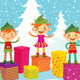 Merry Christmas Elves - GraphicRiver Item for Sale