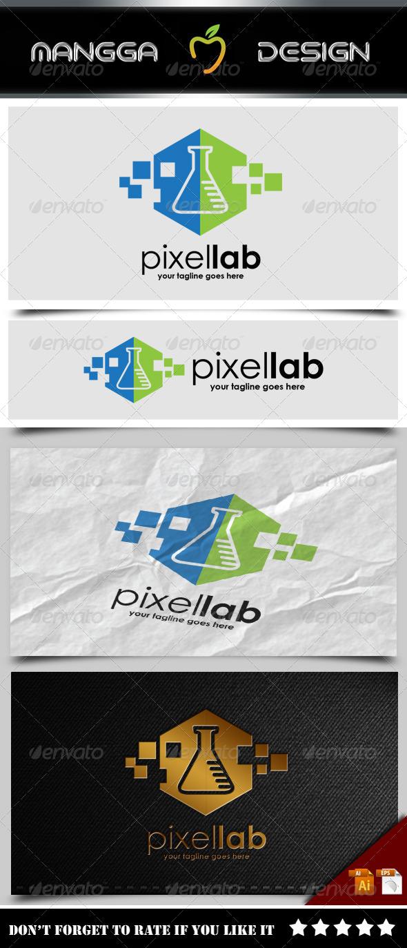 GraphicRiver Pixel Lab Logo 8498832