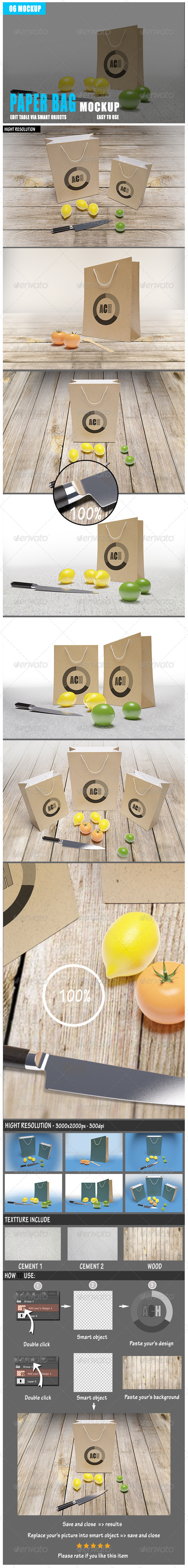 GraphicRiver Paper Bag Mockup 8498847