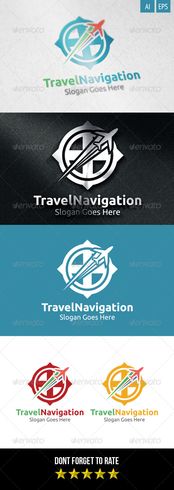 GraphicRiver Travel Navigation Logo 8499009