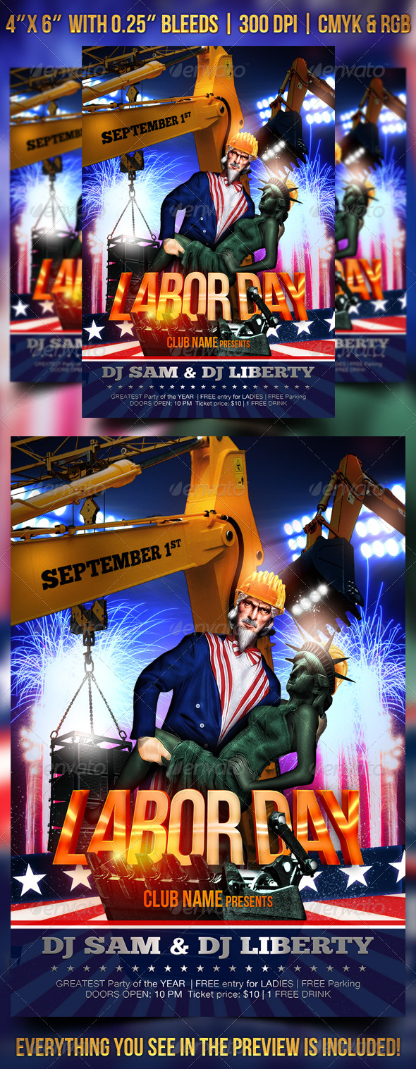 GraphicRiver Labor Day Flyer Template 8499010