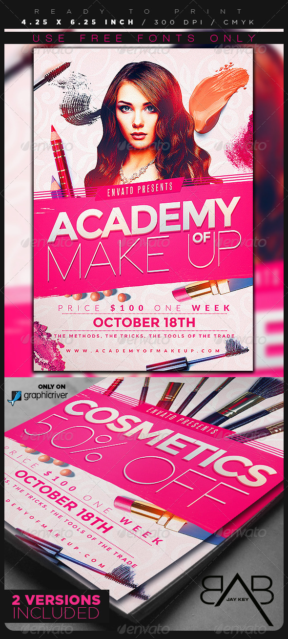 GraphicRiver Makeup Course Flyer Template 8499053
