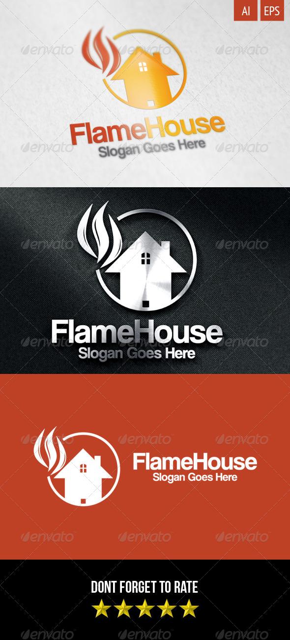 GraphicRiver Flame House Logo 8499057
