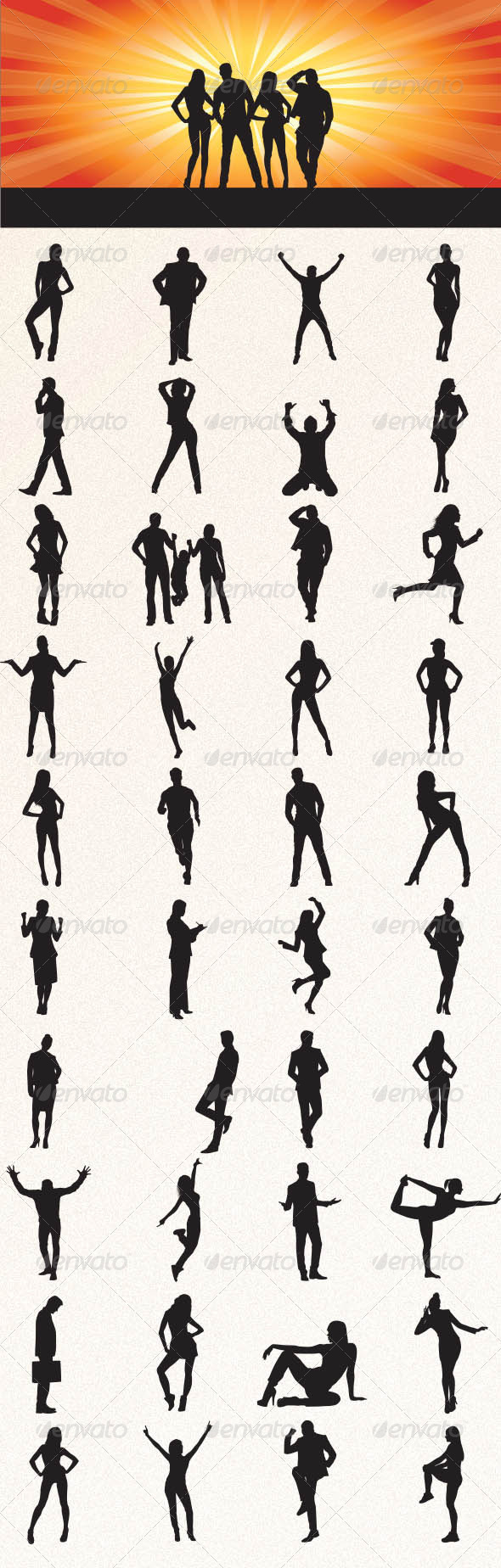 GraphicRiver People Silhouettes 8499200