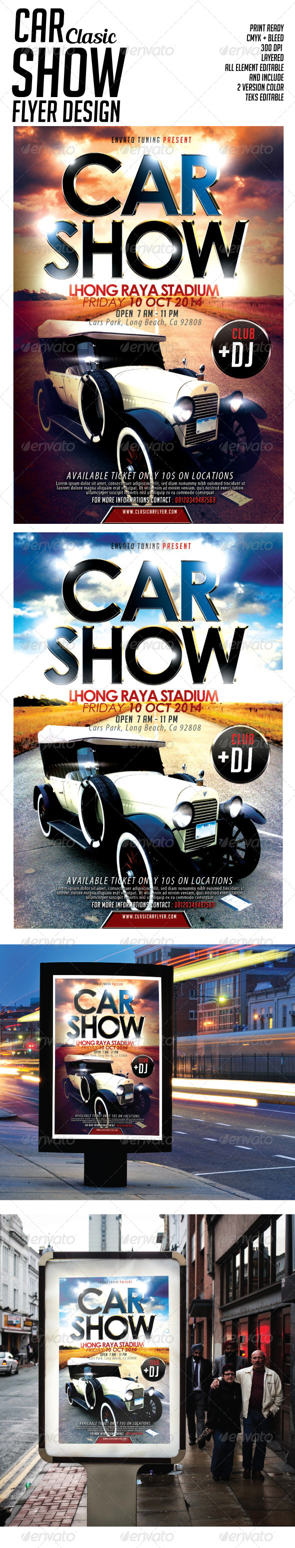 Car Show Clasic Flyer - Events Flyers