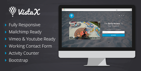 ThemeForest VistaX Coming Soon Responsive Template 8499315