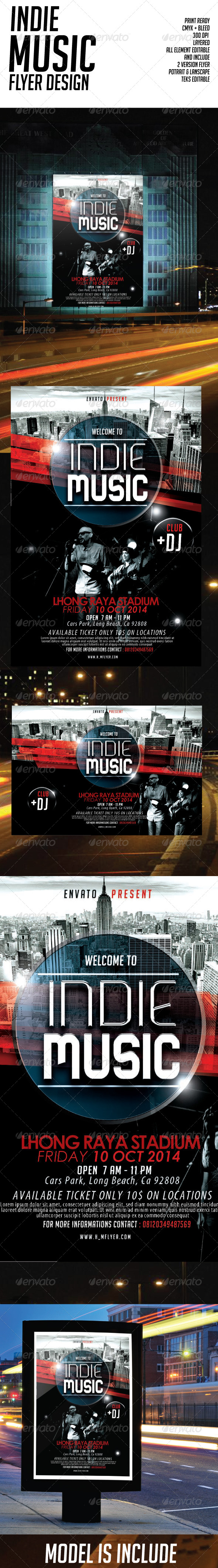 Futuristic Indie Music Portrait & Landscape  - Events Flyers