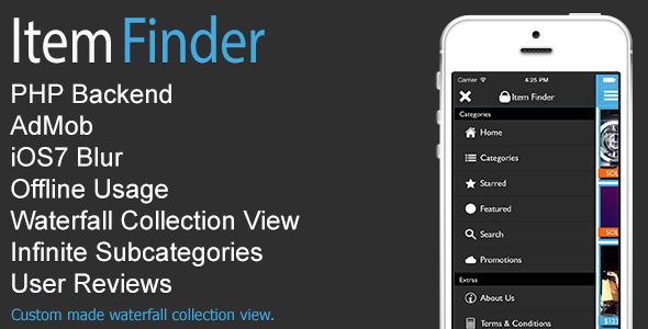 CodeCanyon Item Finder MarketPlace Full iOS App v1.2 8319873