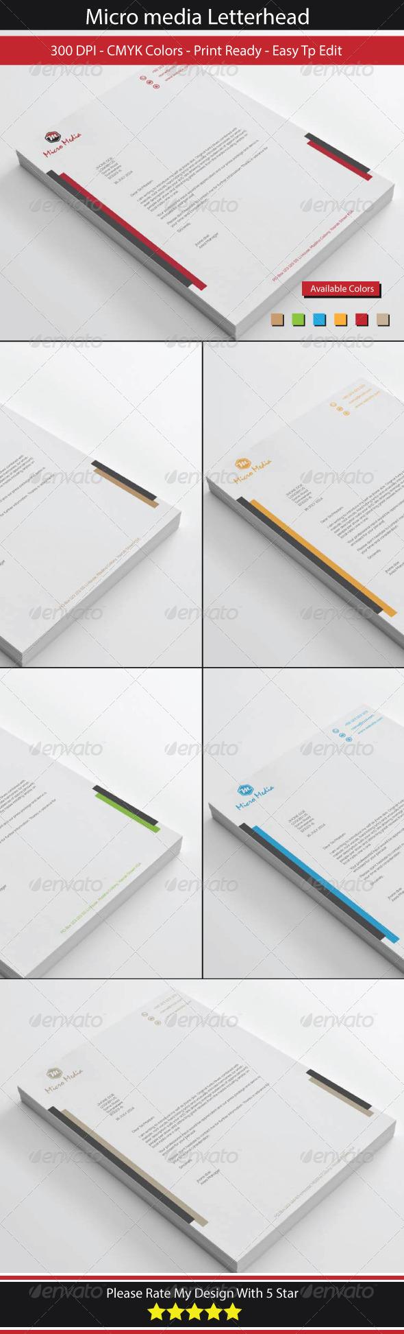 GraphicRiver Micro Design Letterhead 8500310