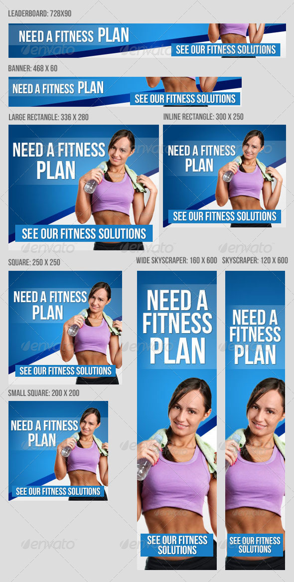 GraphicRiver Fitness Banner Set V2 8500356