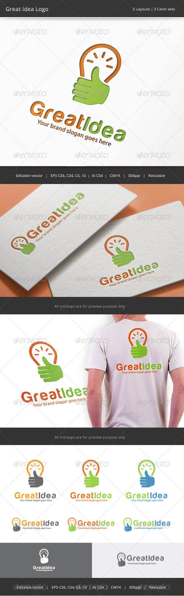 GraphicRiver Great Idea Bulb Logo 8500361