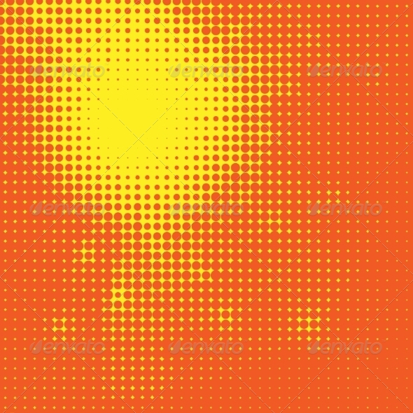 GraphicRiver Abstract Sun Halftone Background 8500443