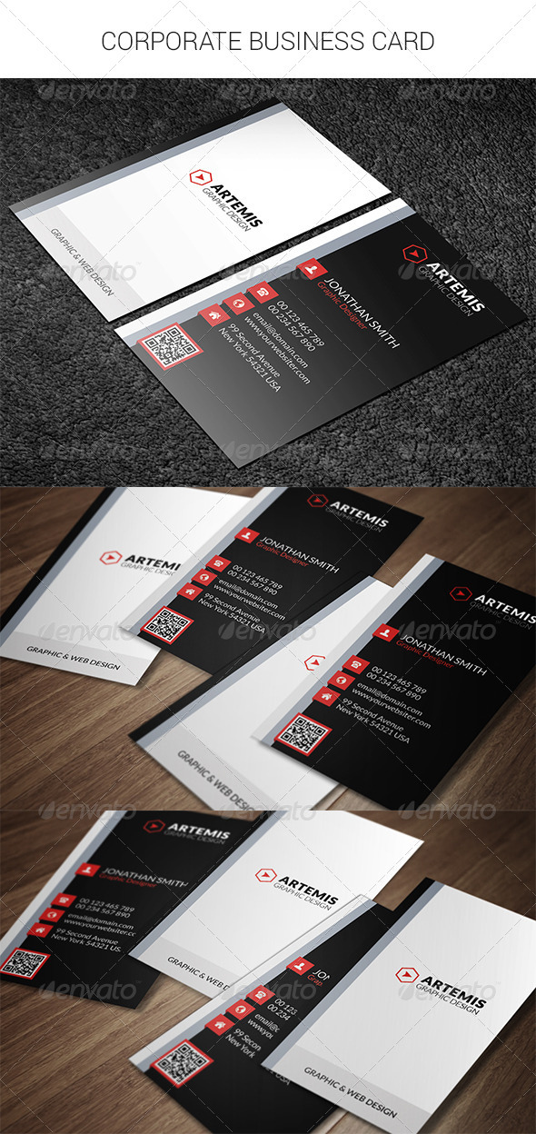 GraphicRiver Corporate Business Card 8500594
