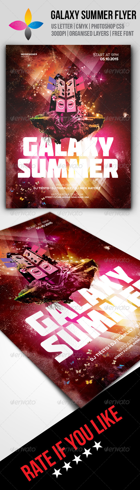 GraphicRiver Galaxy Summer Flyer 8496620