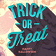 Halloween Type Design on a Hand Drawn Background - GraphicRiver Item for Sale