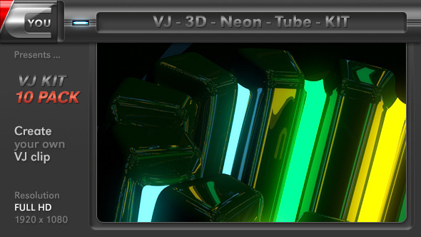 VJ 3D Neon Tube Kit