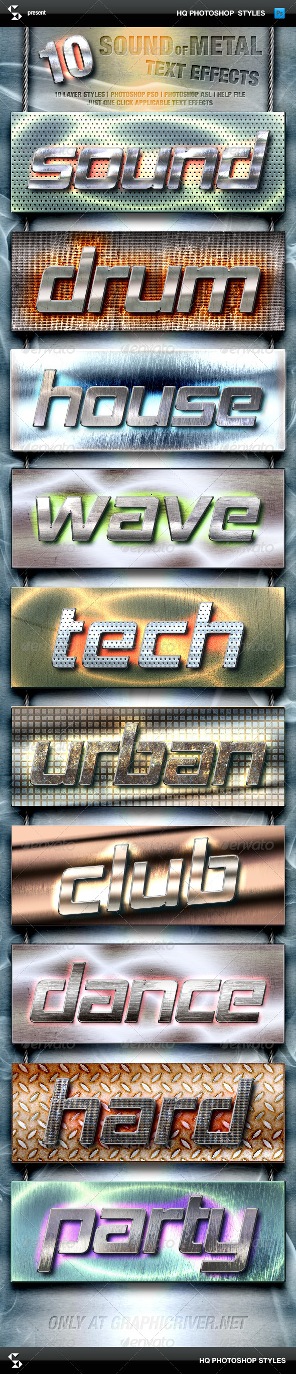 GraphicRiver Metal Styles Sound Of Metal Text Effects 8501148