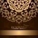 Invitation with Gold Lace Floral Ornament - GraphicRiver Item for Sale