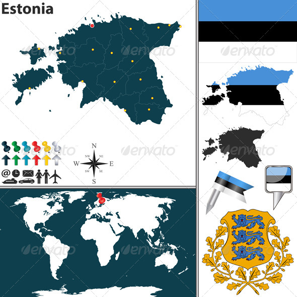 GraphicRiver Map of Estonia 8501176
