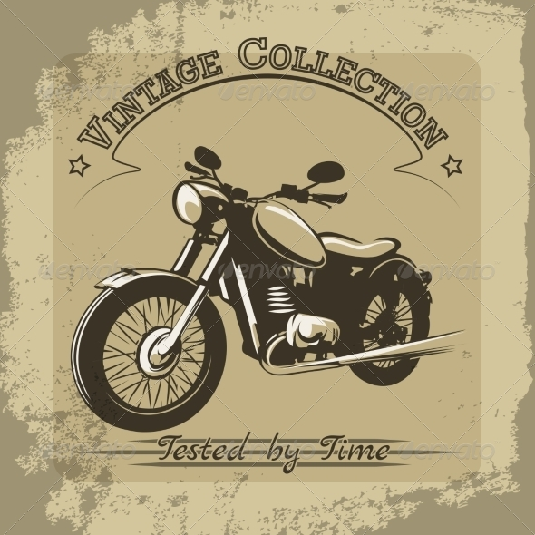 GraphicRiver Vintage Motorcycle Poster 8501181