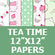 Tea Time Digital Paper Pack - GraphicRiver Item for Sale