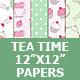 Tea Time Digital Paper Pack - GraphicRiver Item for Sale