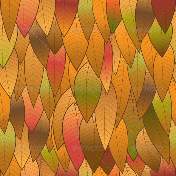 GraphicRiver Autumn Background from Leaves Seamless Structure 8501329