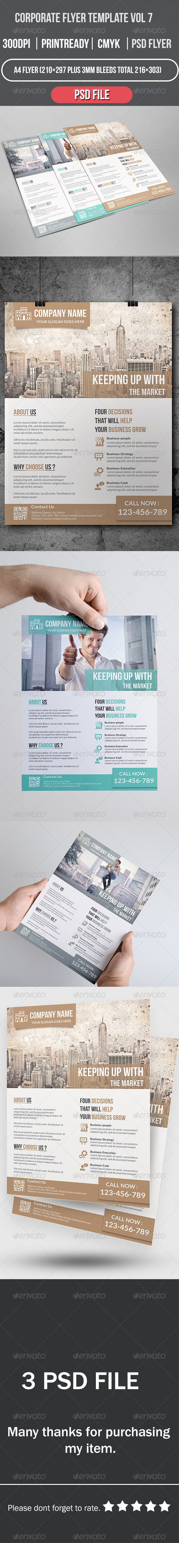 GraphicRiver Corporate Flyer Template Vol 7 8501696