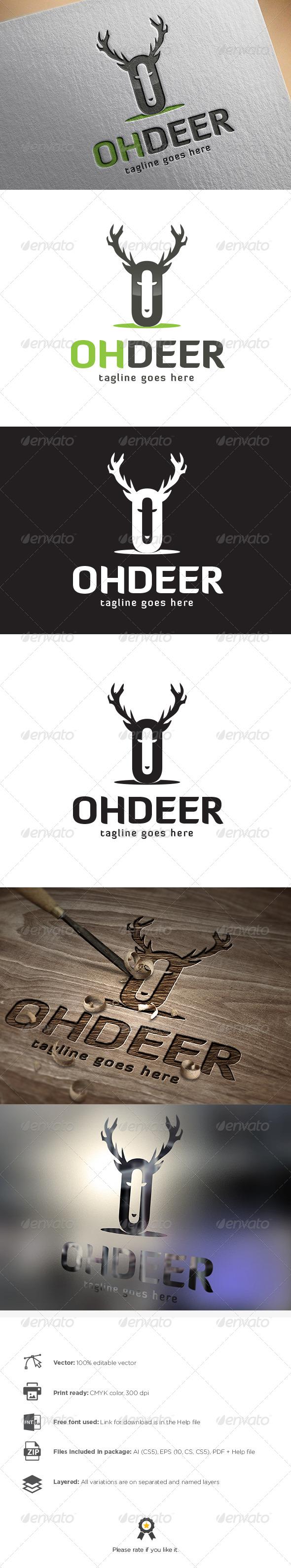 GraphicRiver Deer Logo 8501791