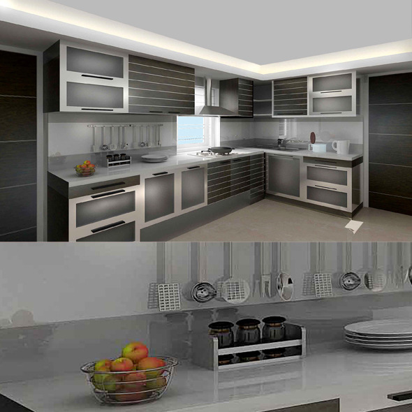 3d Model 3docean Realistic Kitchen 775749 Creative Design Works