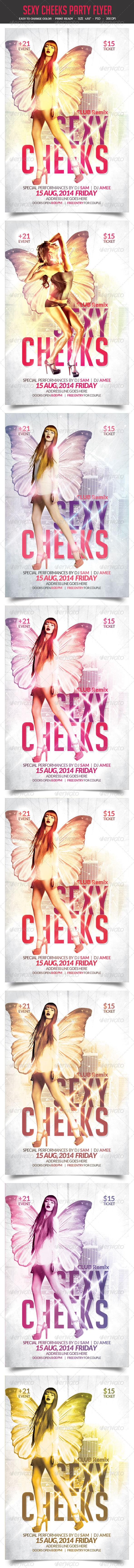 Sexy Cheeks Party Flyer Vol.2