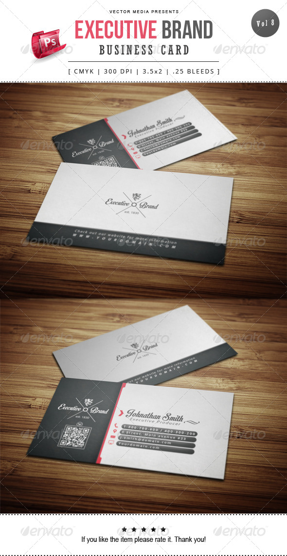 GraphicRiver Executive Brand Business Card [Vol.8] 8502099