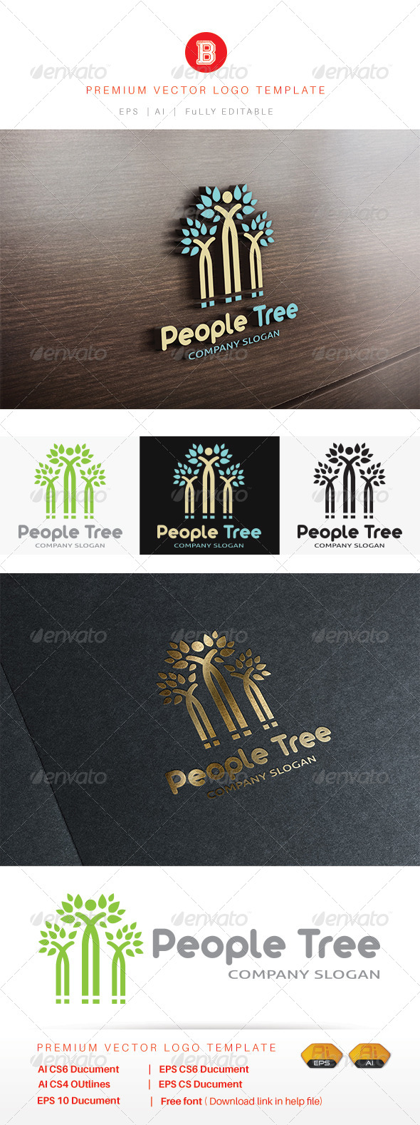 GraphicRiver People Tree 8502479