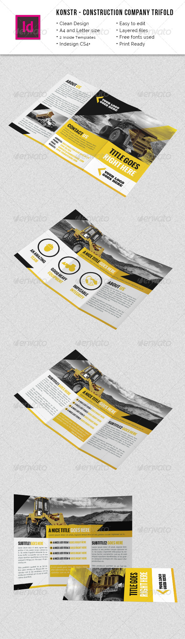 GraphicRiver Construction Company A4 Letter Trifold 8498653