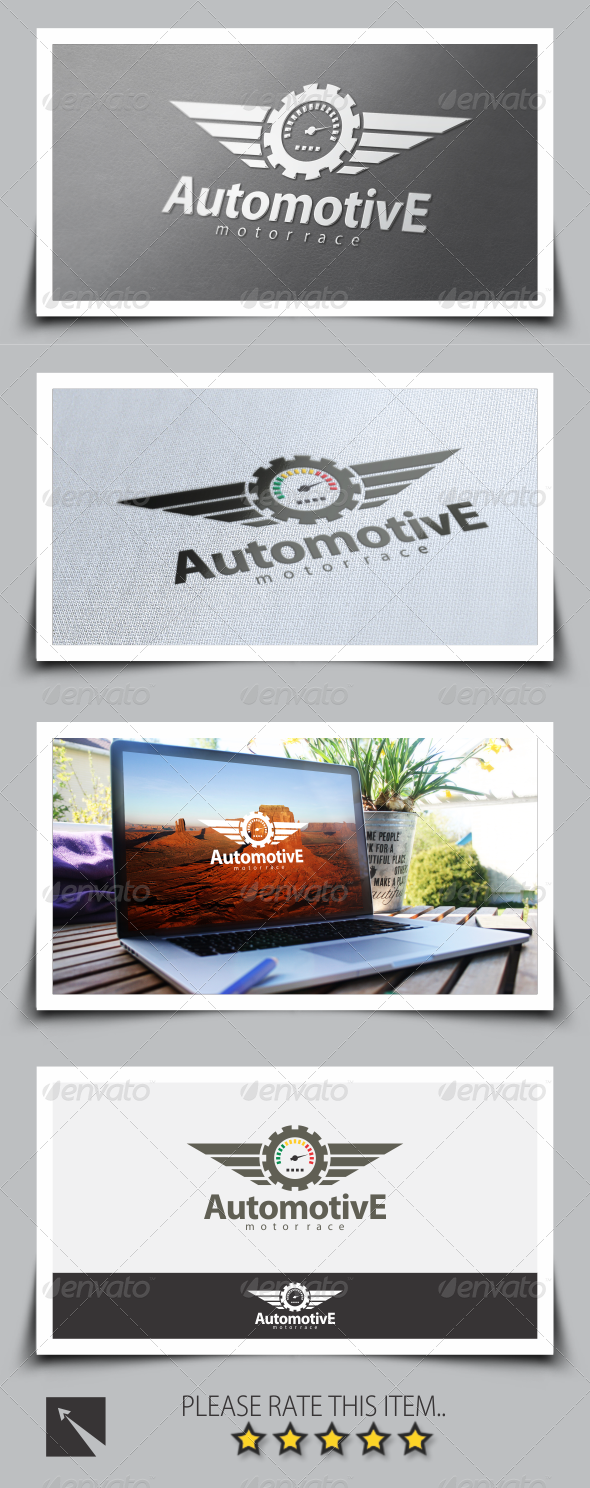 GraphicRiver Motor Race Logo Template 8502611