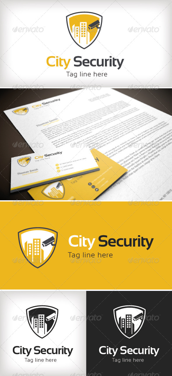 GraphicRiver City Security Logo Template 8502630