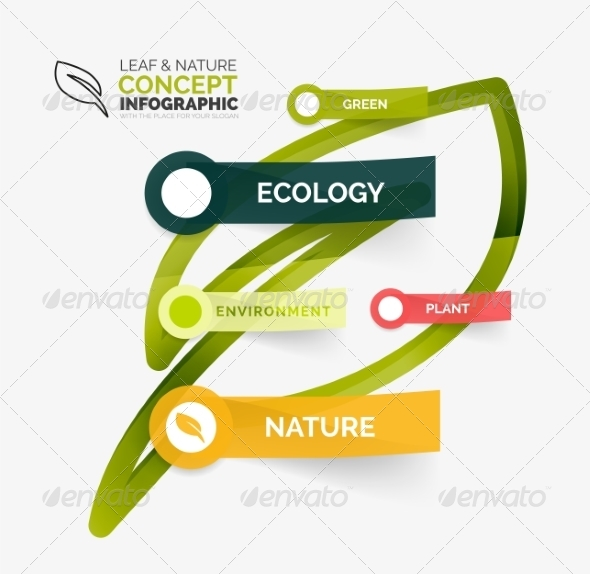 GraphicRiver Eco Leaf Infographic Concept 8502667