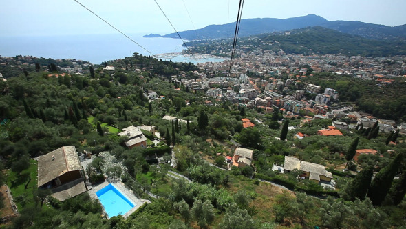 Cable Car View Over The Forest And Coastline 2