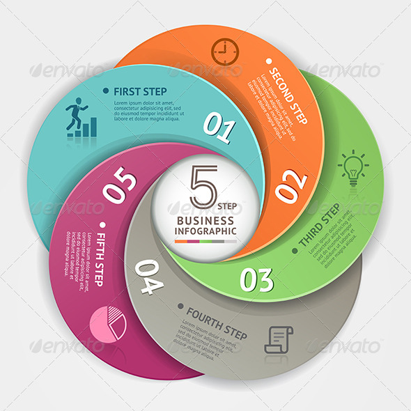 GraphicRiver Modern Infographic Circle Origami Style 8502911